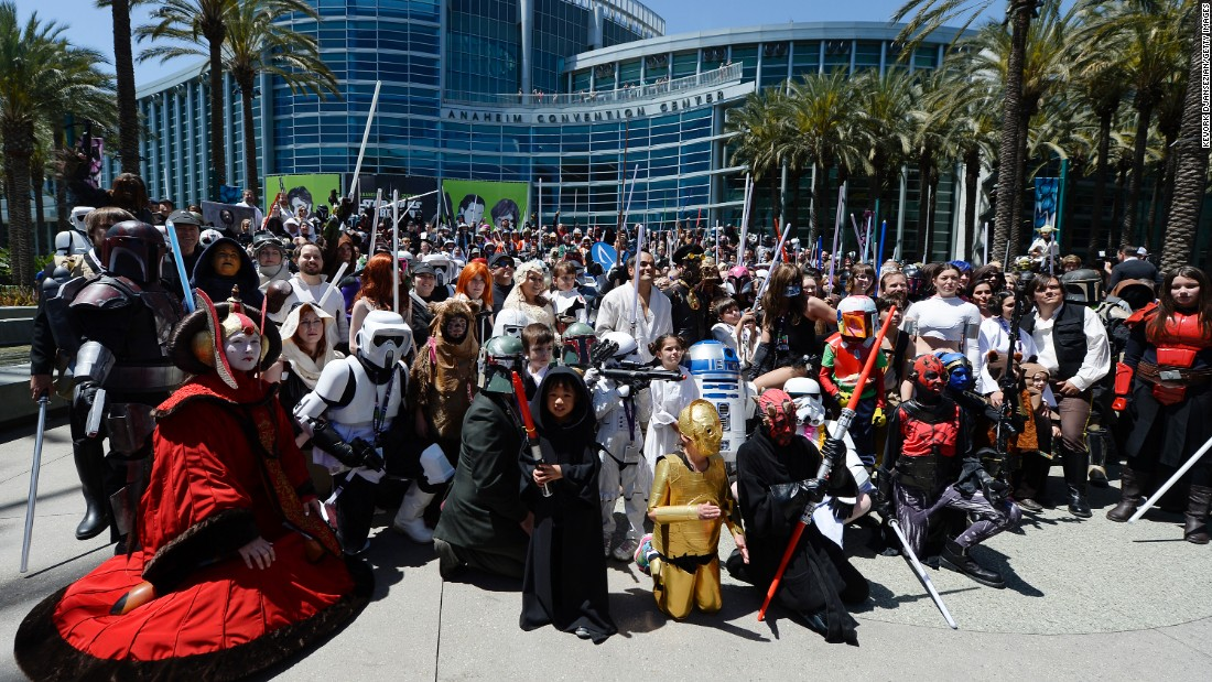 Fans gathered at the official Star Wars Celebration event in Anaheim, California, in April.