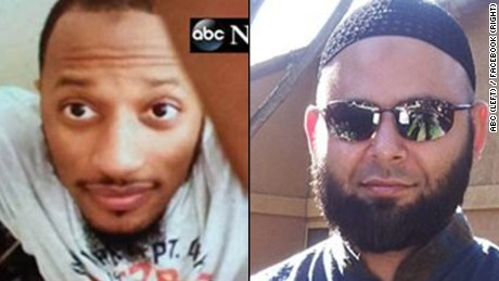 Elton Simpson, left, and Nadir Soofi, right, the two suspects in the Garland, Texas shooting.