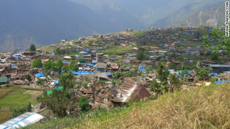 Barpak, a village near the epicenter of the deadly Nepal earthquake, lies in tatters.