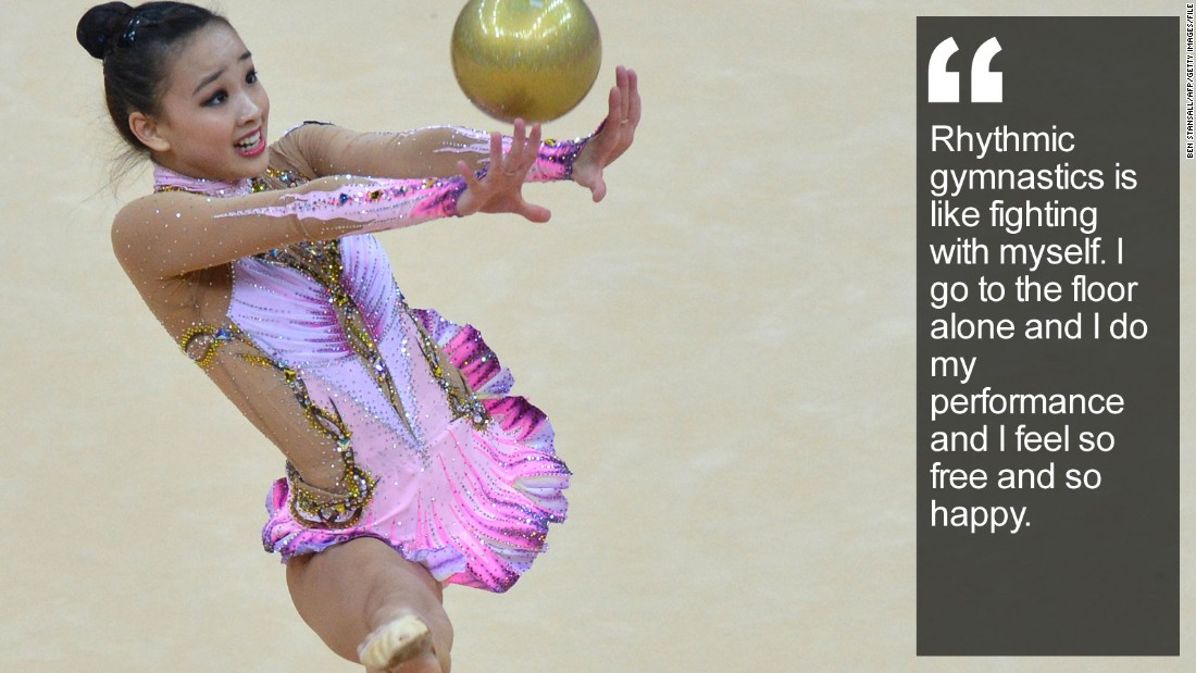 "She's the reluctant ""fairy"" who has charmed a nation with her joyous rhythmic gymnastics routines. <a href=""/2015/05/06/sport/son-yeon-jae-rhythmic-gymnastics-korea-feat/index.html"" target=""_blank"">Read more:</a>"