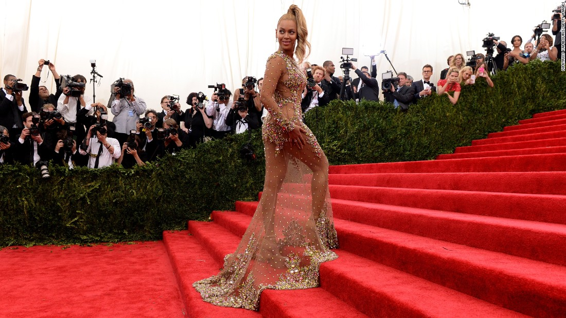 "Beyonce arrives at the Metropolitan Museum of Art's Costume Institute Gala in New York on Monday, May 4. The high-fashion event raises money in support of the museum's costume institute. The theme of this year's Met Gala, also called the Met Ball, is ""China: Through the Looking Glass."""