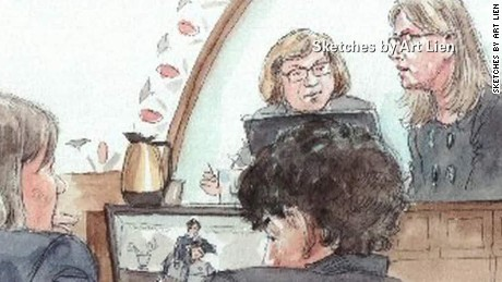 early sot field tsarnaev cries in court_00000502