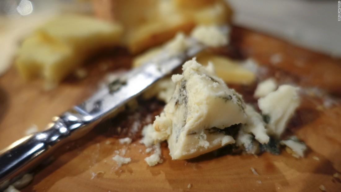 Scottish blue cheese at Guy's Restaurant.