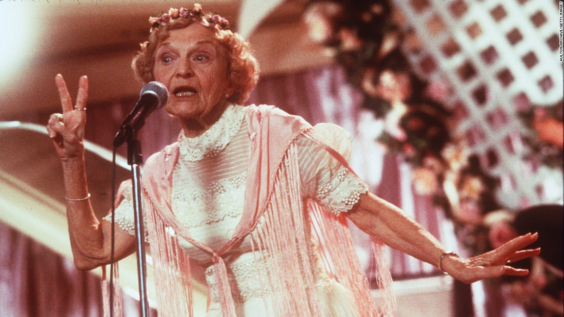 "<a href=""http://www.cnn.com/2015/05/05/entertainment/feat-wedding-singer-rapping-granny-dead/index.html"">Ellen Albertini Dow</a>, perhaps best known as the rapping granny in the 1998 movie ""The Wedding Singer,"" died May 5 at the age of 101. She also appeared in ""Wedding Crashers"" and dozens of TV shows."