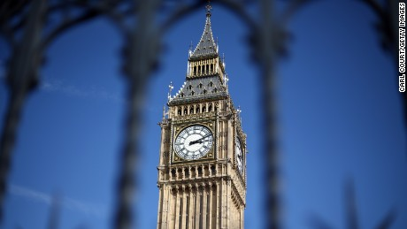Elizabeth Tower, commonly called Big Ben, is pictured on April 1, 2015 in London, United Kingdom. Parliament has been dissolved as campaigning gets under way by the political parties ahead of the forthcoming general election on May 7th.