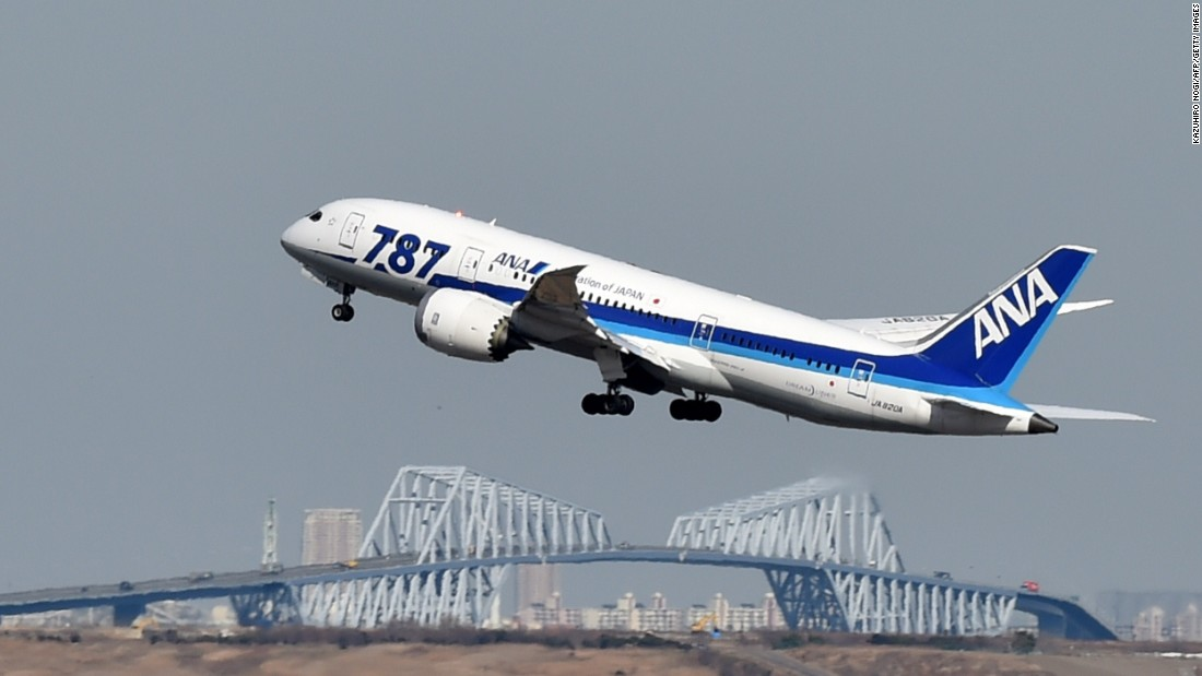 "All Nippon Airways was the first airline in the world to fly the 787 Dreamliner, <a href=""http://www.ana.co.jp/wws/japan/e/local/common/share/boeing787info/"" target=""_blank"">taking delivery in September 2011</a>. It's shown here taking off from Tokyo's Haneda Airport."
