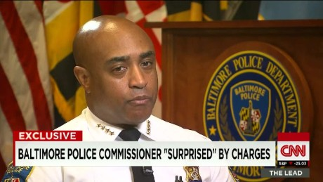"Baltimore police commissioner ""surprised"" by charges_00022727"