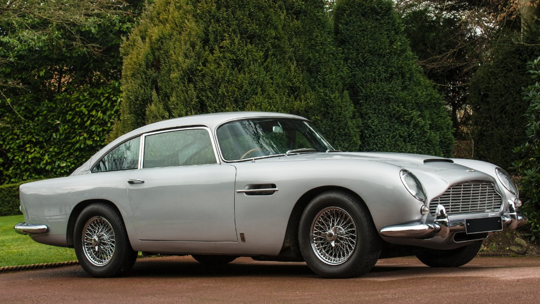 The car of choice for fictional secret service agent James Bond is the Aston Martin, and perhaps the most famous Aston Martin of all is this gadget-equipped DB5 which appeared in <em>Goldfinger</em> in 1964.