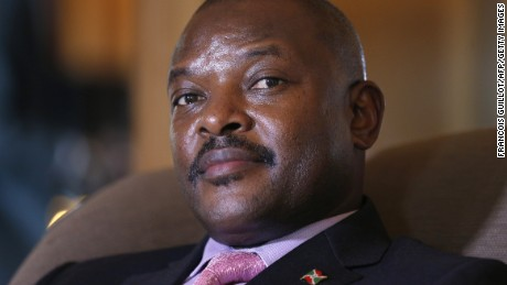 President Pierre Nkurunziza ran for a third term despite a two-term limit.