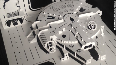 Incredibly detailed Star Wars scenes made from single sheets of paper