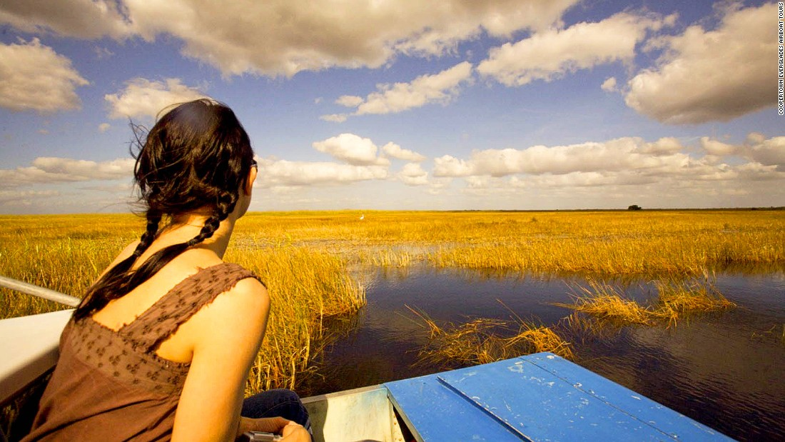 "Florida's Everglades National Park covers 1.5 million acres of marshes, rivers and sawgrass prairie. Because they can access even super-shallow areas, airboats offer a unique perspective on the proverbial ""river of grass."""