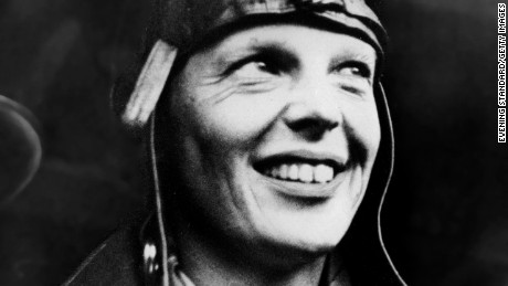 22nd May 1932:  American aviator Amelia Earhart (1898 - 1937) arriving in London having become the first woman to fly across the Atlantic alone.  (Photo by Evening Standard/Getty Images)