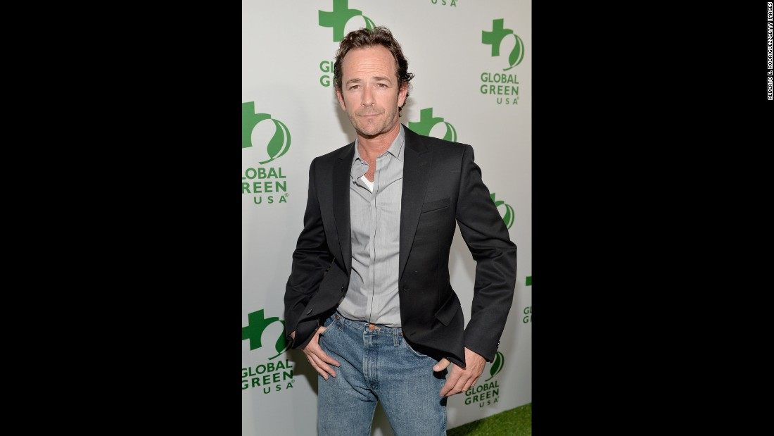 Luke Perry will always be our small-screen version of James Dean, even though he's 48.