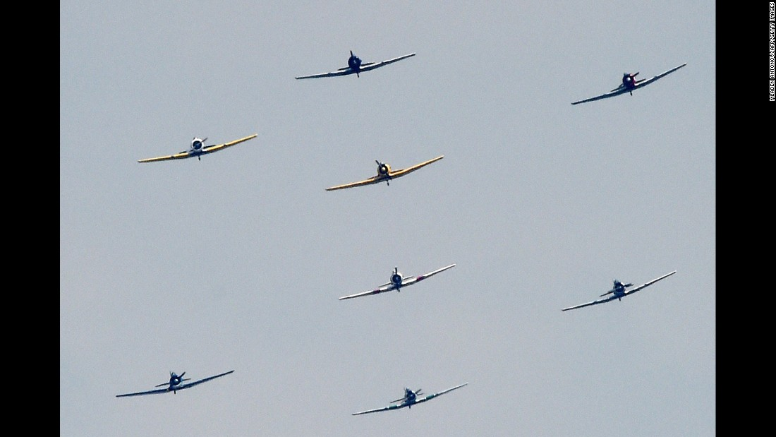More than two dozen planes flew over Washington's monuments.