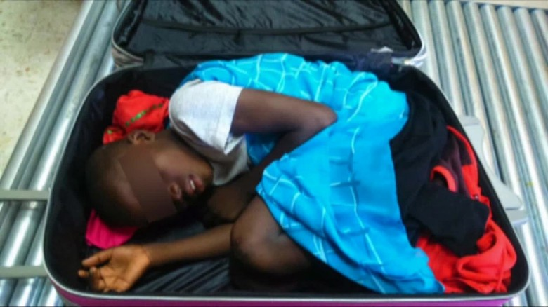 Airport x-ray discovers 8-year-old boy in suitcase