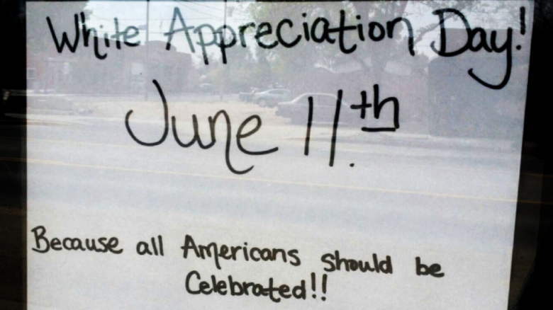 Business offers 'White Appreciation Day'