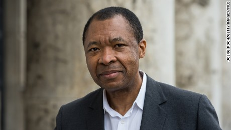 "Okwui Enwezor, director of the ""Haus der Kunst,"" attends the ""All the World's Futures"" International Art Exhibition Press Conference at Haus der Kunst on March 6, 2015 in Munich, Germany. (Photo by Joerg Koch/Getty Images)"