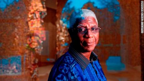 El Anatsui, recipient of the Golden Lion for Lifetime Achievement at the 2015 Venice Biennale.
