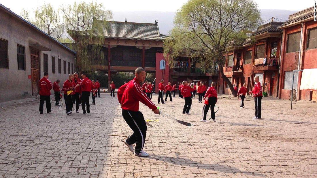 The Shaolin Temple Tagou Wushu School is huge. It claims its 730,000 square meter campus hosts up to  35,000 students.