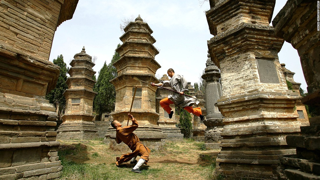 The original hometown of Chinese martial arts, the Shaolin Temple in Henan province is set in the forests of the picturesque Song Mountain, and now a bona fide tourism hot spot.