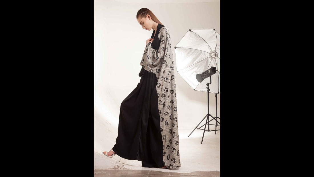 Bashar Assaf is inspired by organic patterns and the physical sciences. The print designer's collections so far have featured body conscious sheer silks and chiffons printed with rocks, water and skulls as well as a zoomed-in cross section of a human heart.