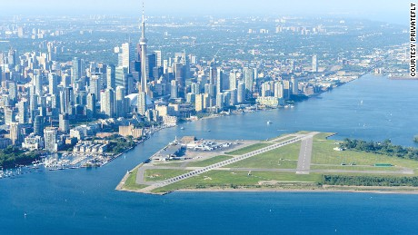 Billy Bishop Toronto City Airport -- commonly known as Toronto Island Airport -- is a small facility located on an island in Lake Ontario in Canada's largest city. The airport is used by regional airliners, private aviation, small charter flights and medical emergency flights. It's only accessible by passenger ferry.