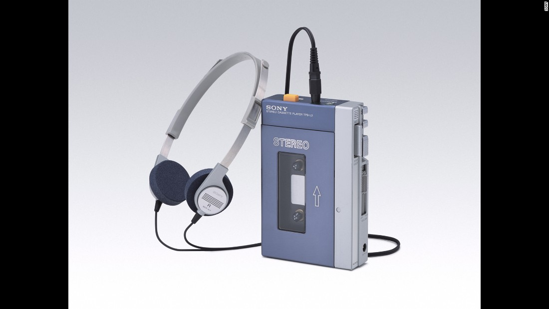 "The sound barrier is broken once again in the '70s, but this time at walking speed. Sony introduces the Walkman, the first commercially successful ""personal stereo."" Its wearable design and lightweight headphones gave listeners the freedom to listen to music privately while out in public. The product was an instant hit. The Walkman was a mark of coolness among consumers, setting a standard for future generations of personal devices like the Apple iPod."