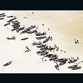 Skyhawk aerial photography Mozambique fishermen