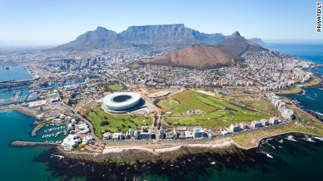 Cape Town International's runway offers views of South Africa's famous Table Mountain, which is located approximately 29 miles from the airport.