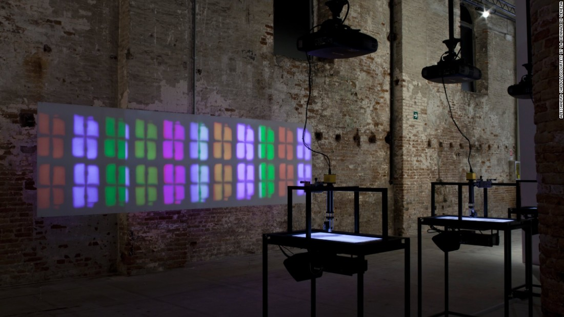 <em>Mikhael Subotzky, Show and Tell, 2014</em><br /><br />Subotzky is a 34-year-old artist from Johannesburg, where he is still based. He often uses film, video and photography to create powerful narratives for his installations.