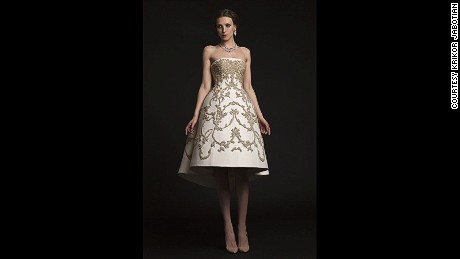 Krikor Jabotian's wedding dresses sell for $25,000.
