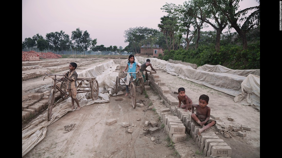 Children begin to work at the age of 6, Petralla said. Their pay is equal to that of adults, and it is based on the amount of bricks transported daily.