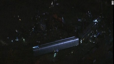 A train derails in Philadelphia.