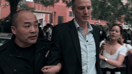 McKenzie detain China protest