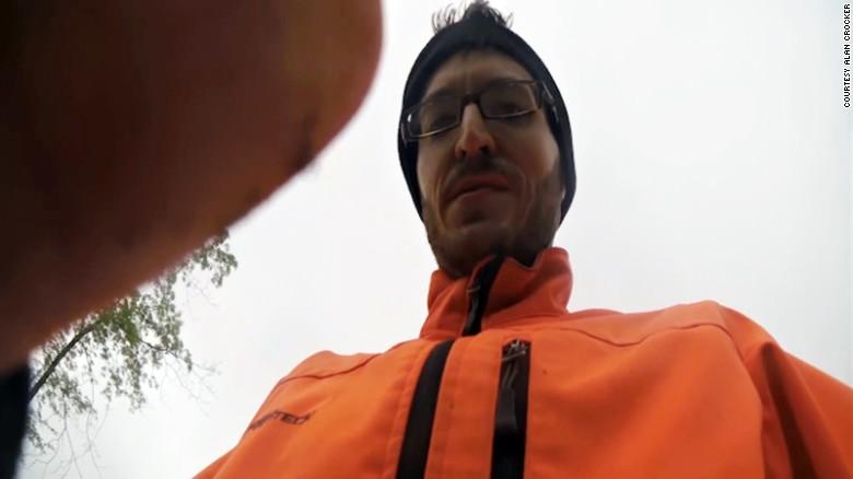 Assault caught on biker's helmet cam