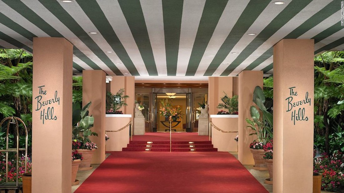 The Beverly Hills Hotel, built in 1912, is as glamorous as its A-list clientele. Guests have included Marilyn Monroe, John Wayne, Richard Burton and Elizabeth Taylor.