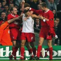 Gerrard 2003 League Cup final Manchester United