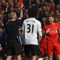 Gerrard Manchester United red card 2015