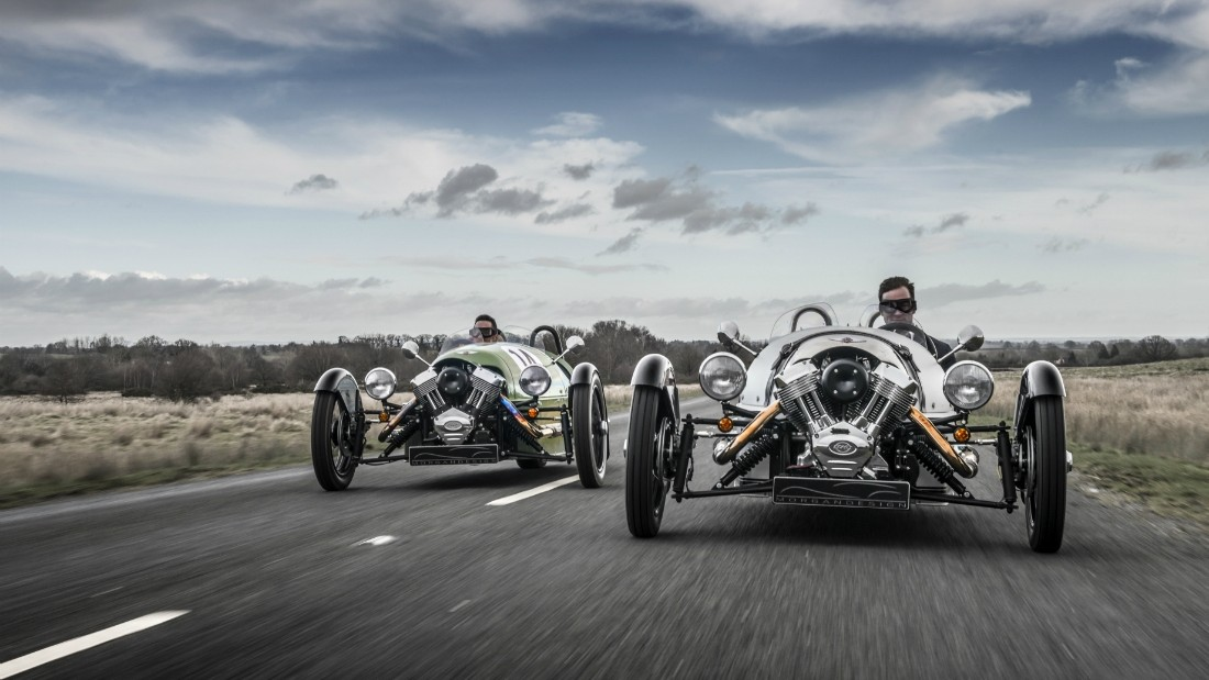 The three-wheelers account for over half of all Morgans sold around the world.