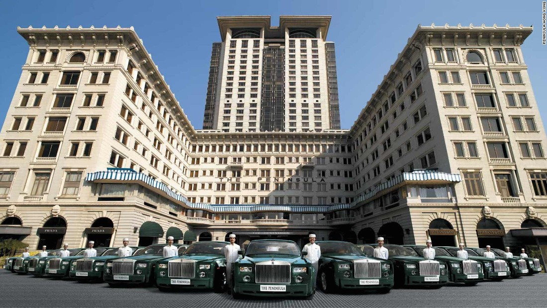 "Known as the ""Grand Dame of the East,"" the Peninsula Hong Kong is the flagship property of Peninsula Hotels and the city's oldest hotel. Since opening in 1928, its set the standard for luxury in Hong Kong, from its glossy fleet of green Rolls Royce Phantoms to the private jet available for guest use."