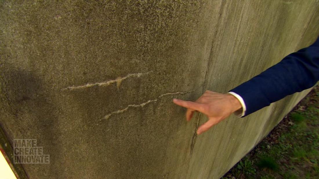 "Concrete is extremely alkaline and the ""healing"" bacteria must wait dormant for years before being activated by water."