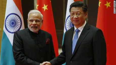 XIAN, CHINA - MAY 14: Indian Prime Minister Narendra Modi (Left) and Chinese President Xi Jinping attend a meeting on May 14, 2015 in Xian, Shaanxi province, China. (Photo by Kim Kyung-Hoon - Pool/Getty Images)