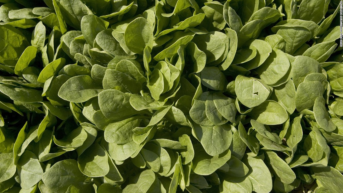 The magnesium in spinach helps the colon contract and draw water in to flush things through.