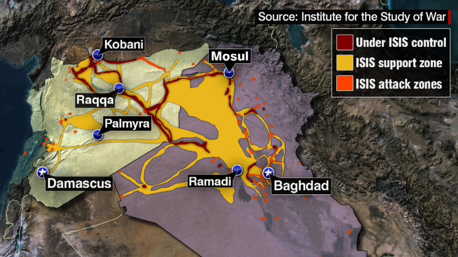 US Troops Kill ISIS Leader CNN Video - Isis location map in us
