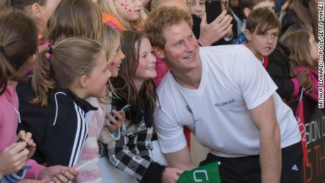 Prince Harry meets members of the public at an event to promote the 2015 FIFA U-20 World Cup which will be hosted by New Zealand, at The Cloud on Auckland's waterfront on May 16, 2015 in Auckland, New Zealand.