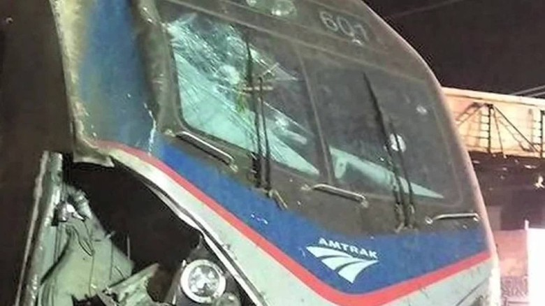 Investigators looking at marking on Amtrak 188 train