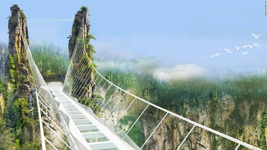 Zhangjiajie Grand Canyon is set to open the world's highest and longest glass-bottom bridge in July.
