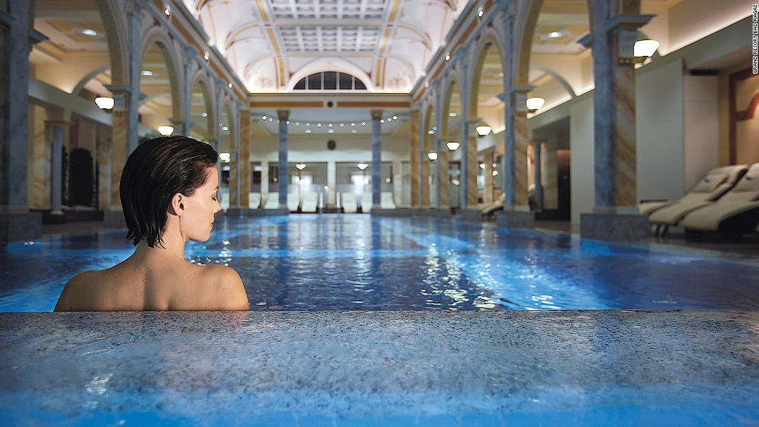 The Thermal Spa's 12 suites offer floor-to-ceiling windows, personal saunas, color-therapy baths and bathwater from nearby thermal springs.