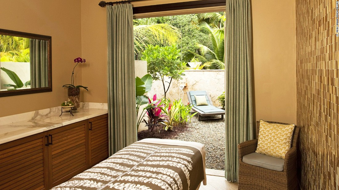 Treatments, performed in thatched-roof cabanas by the ocean upon request, are designed to individual needs using ingredients indigenous to the nearby El Yunque Rainforest.