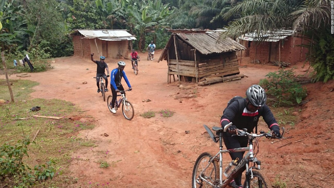 "Get out of the capital and explore rural Aburi, just 45 minutes from Accra. <a href=""http://ghanabike2.com/index.html"" target=""_blank"">Ghana Bike & Hire Tours</a> offer seven day rides covering 460km and taking you well off the beaten track. Along the way you'll encounter waterfalls, bat caves and townships, camping in the lush forest each night and mingling with locals."